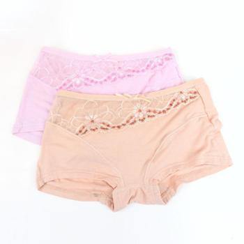 女平角内裤 2条装 天竹再生纤维细软透气中腰性感无痕短裤HD9893