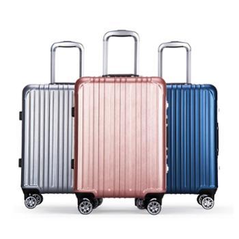 卡拉羊防爆铝框拉杆箱静音飞机轮出国行李箱大容量旅行箱8622