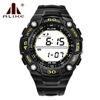 多功能防水运动万年历 卡路里计步器手表 步行时间夜光闹铃腕表