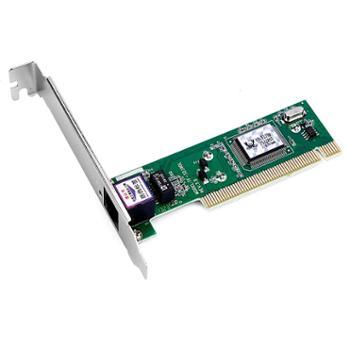 DIEWU 8139d加强版网卡Rtl8139PCI网卡 台式机网卡 百兆网卡 免驱动 全高档片 正品行货,全国联保,一对一的远程调试技术服务