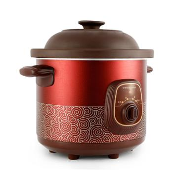 电炖锅 荣事达 RDG-35Z电炖锅紫砂锅电炖盅陶瓷煲汤锅煮粥锅