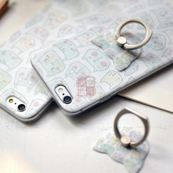 善融爱家节手机支架手机指环可爱苹果手机壳iphone6/6s/6splus喵了个咪保护套礼品套装