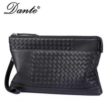 Dante丹迪手拿包男士真皮时尚商务编织羊皮手包