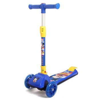 迪士尼漫威系列滑板车全闪大轮儿童一秒折叠摇摆车卡通四轮滑板车