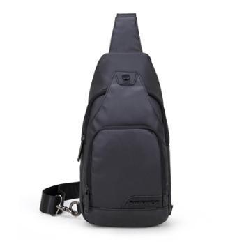 SWIMADE瑞制RZ-1028黑色胸包男士防泼水牛津布斜跨挂包休闲运动腰包