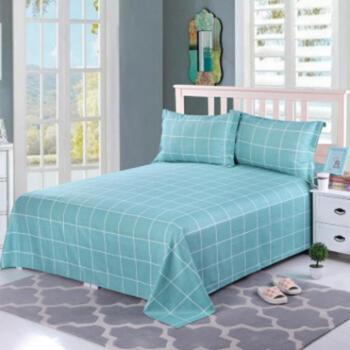 锦华家纺全棉床单2.0*2.3米单件双人纯棉加厚斜纹床单