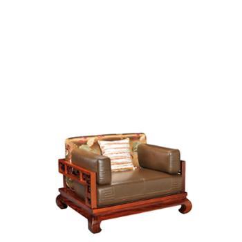 YM12002AU一品柚典藏系列实木沙发组合(4R)