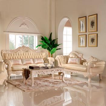 欧式真皮沙发组合 法式别墅实木雕花家具大户型客厅皮艺沙发SF002