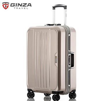银座/GINZA铝框拉杆箱24寸万向轮拖箱密码旅行箱男女行李箱硬箱A-303K