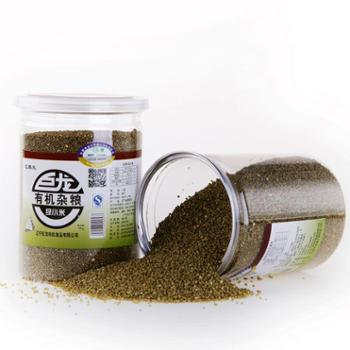 巨龙有机绿小米罐装400g 辽宁特产 有机杂粮