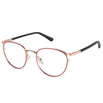 【0元配镜】TILU天禄眼镜金属复古椭圆眼镜框可配近视J00394