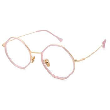 【0元配镜】TILU天禄眼镜经典时尚不规则眼镜框金属合金镜架J00396