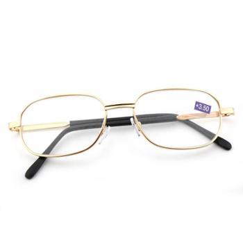 TILU天禄眼镜金属超轻耐磨老花镜时尚老人全框老化镜L00012