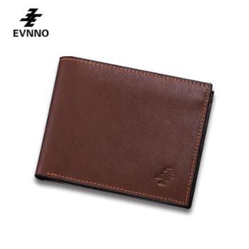 意威诺(evnno)短款钱包 超薄软皮头层牛皮钱夹 Q0482