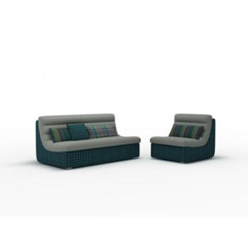 左右坐客布艺沙发小户型简约现代客厅双人布艺沙发组合可拆洗单人位