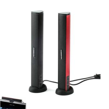 卡农N12笔记本电脑USB有源声卡小音箱便携多媒体2.0长条音响