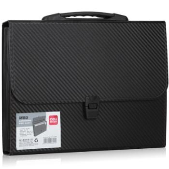 得力(deli)风琴包A4手提多层文件夹票据收纳文件包5641-13格风琴包(颜色随机)