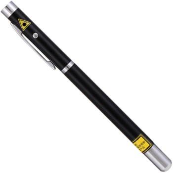 得力(deli)3934 可伸缩激光教鞭 便携式激光笔/无线演示器 黑/银随机 红光
