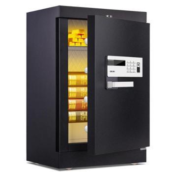 得力4092电子防盗保险柜 指纹电子密码箱保险箱(黑色)
