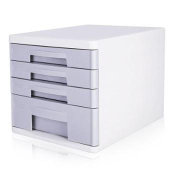 得力 (deli)桌面资料整理文件柜 塑料抽屉柜 9761 四层无锁
