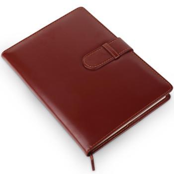 得力(deli)皮面笔记本/记事本/25k会议本120页商务带扣皮颜色随机颜色随机120页(7946)