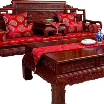竹月阁红木沙发垫坐垫中式布艺沙发坐垫实木沙发垫加厚