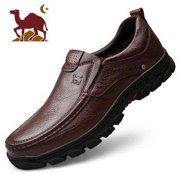 骆驼2019款男鞋商务休闲皮鞋百搭棉鞋单鞋真皮牛皮男士皮鞋