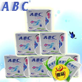 ABC迅爽护理丝薄棉柔护垫22片中量吸收超值