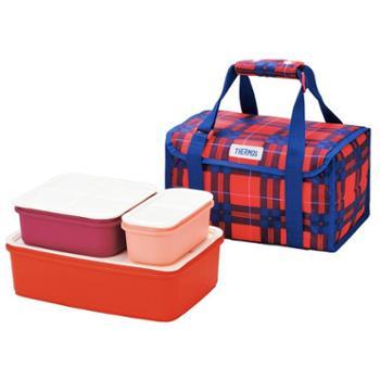 膳魔师大容量日式便当盒保冷分隔户外野餐盒4件套保鲜盒DJF-4002