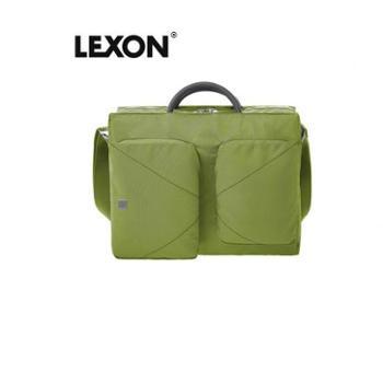 法国LEXON乐上手提单肩防水14寸电脑公事公文包LN1104