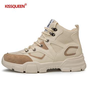 自由绽放KISSQUEEN男休闲运动鞋战狼靴工装鞋复古老爹鞋马丁靴5008