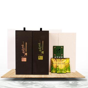 羌笛2020年明前新茶四川北川高山手工绿茶羌笛羌之灵芽208g礼盒装