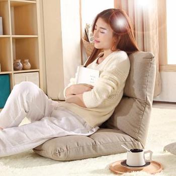 木优加厚懒人沙发 日式简约现代折叠榻榻米 可拆洗单人床上靠背椅