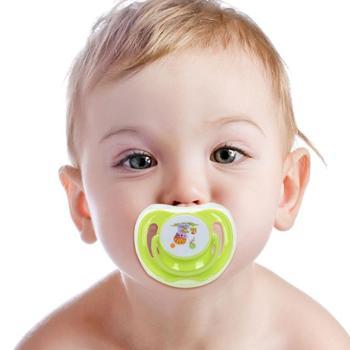 送防尘盖宝宝卡通安抚奶嘴圆头/扁头半硅胶奶嘴牙胶