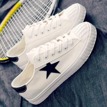 春季帆布鞋韩版潮鞋布鞋透气男鞋单鞋子男士板鞋一脚蹬懒人
