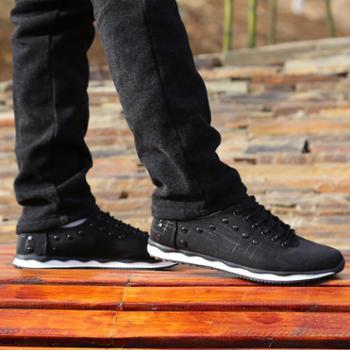 男鞋春夏季男士休闲帆布鞋系带韩版学生透气板鞋英伦潮鞋时尚跑鞋