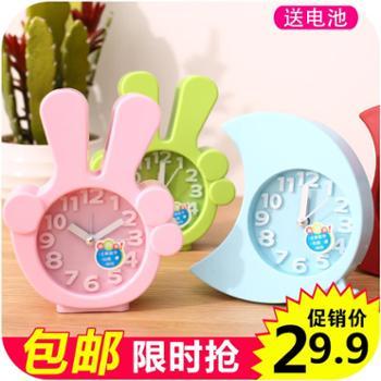 韩国创意静音小闹钟时尚个性懒人学生儿童闹表卧室床头电子时钟表