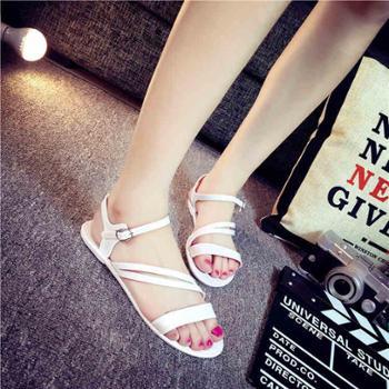 秋之北纬夏季女鞋时尚清凉沙滩鞋防滑时尚凉拖鞋露趾女平底凉鞋