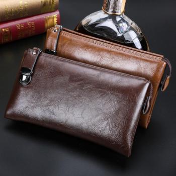 新款牛皮手包男包男士手抓包多功能休闲韩版包手拿包钱包潮包