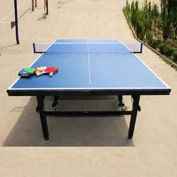 带轮可移动式比赛专用乒乓球台家用可折叠式标准室内乒乓球桌案子