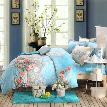 华锦添全棉被套单件床品夏季单双人纯棉被罩学生宿舍1.5米1.8m床