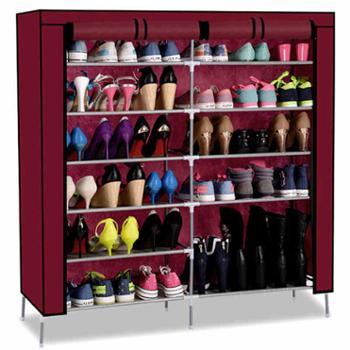 壹柜简易鞋架子布鞋柜多层经济型双排防尘收纳柜组装简约现代特价