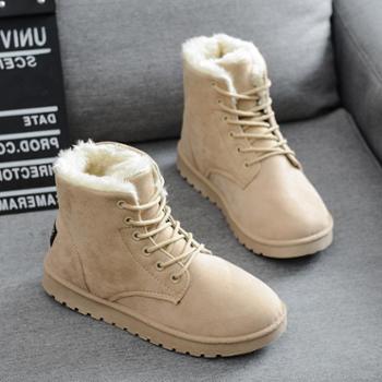 新款秋冬季雪地靴学生平底棉鞋女鞋短筒保暖靴子加绒韩版短靴