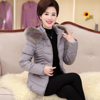 中年中老年人妈妈装女装冬装外套棉袄羽绒棉服棉衣40-50岁短款女