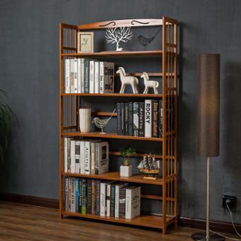木马人简易书架置物架实木多层落地宿舍儿童储物收纳架学生书柜