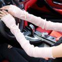防晒手套女夏季半指骑车开车薄长款防紫外线冰蕾丝手臂套袖套户外