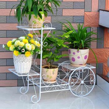 铁艺花架车型花架子落地多层室内外客厅多功能绿萝多肉花盆架
