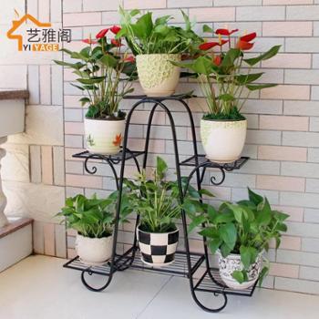 欧式铁艺花架多层阳台客厅花盆架室内绿萝盆栽多肉多功能花架子