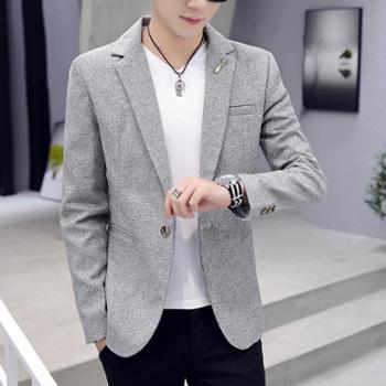 利迈小西装男韩版潮流上衣修身帅气春秋男士西服英伦休闲男装外套
