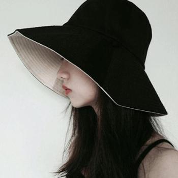 渔夫帽女夏天日系遮脸韩版百搭防晒遮阳帽时尚女士帽子潮春秋